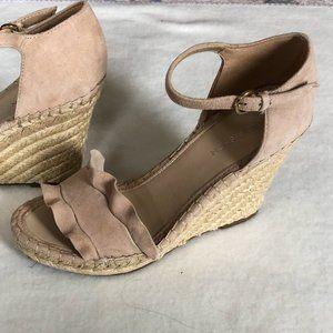 Marc Fisher Kick Off Espadrille Suede Wedge